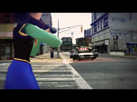 Anna and Elsa frm Disney  s  Frozen  Battle the Police in  Grand Theft Auto