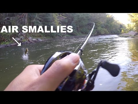 Fishing At Its Finest!!! Wading For SMALLMOUTH Bass
