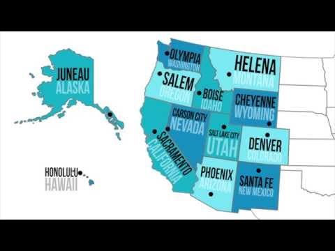 Santa Fe On Us Map Globalinterco - Western states map in us