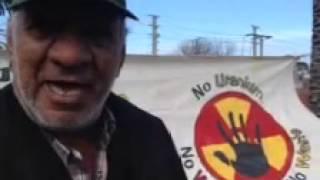 No more uranium exports through Port Adelaide. In solidarity against uranium mining in WA. Proposed uranium mines in WA plan to ship uranium out through Port Adelaide - the folks there say no.