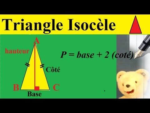 comment construire un triangle isocèle en a