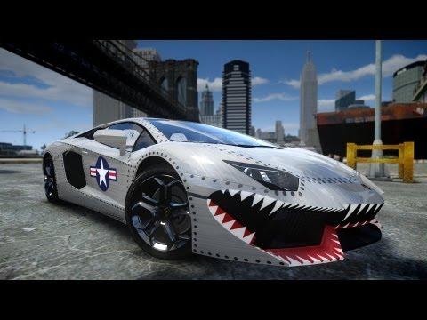 GTA IV 2012 LAMBORGHINI AVENTADOR LP700-4 WITH USAF PAINT JOB CRASH TESTING HD