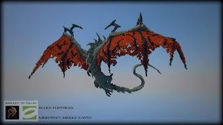 [Block by Block] 3D Smaug Dragon Speed Build Timelapse Minecraft