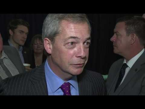 "Former UKIP leader Nigel Farage praises US President Donald Trump's ""refreshing"" approach to politics , February 17, 2017"