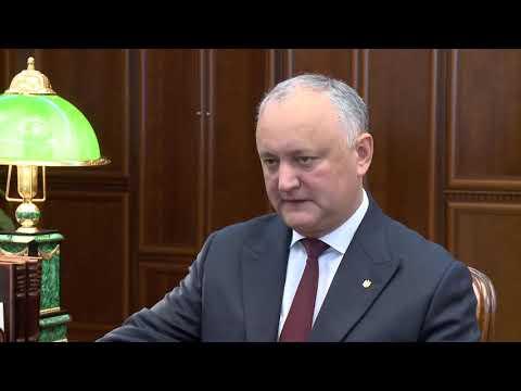 Игорь Додон провел рабочую встречу с Олегом Васнецовым