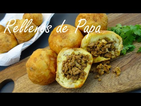 Rellenos de Papa Recipe - Papas Rellenas - Puerto Rican Stuffed Potatoes