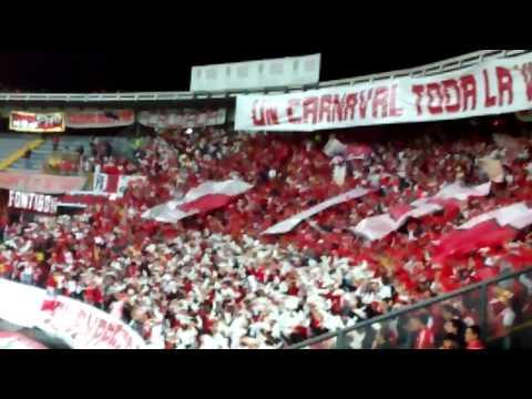 Salida santa fe vs estudiantes de la plata - La Guardia Albi Roja Sur - Independiente Santa Fe