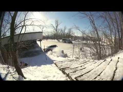 Snowboarder mot bil