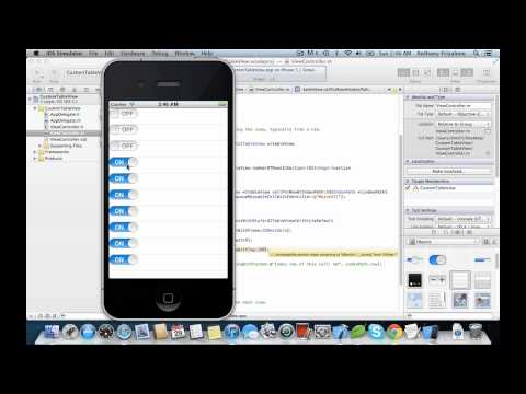 IOS Tutorial - Custom Table View Cell