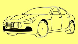 Nonton How to draw Maserati Ghibli Fast and Furious 7 car - Как нарисовать машину Масерати Film Subtitle Indonesia Streaming Movie Download