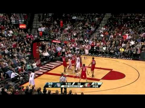 Rudy Fernandez's wild shot against the Nets