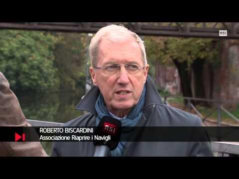 A Milano riaffiorano i Navigli. Intervista Televisione Svizzera 28 Ottobre 2015