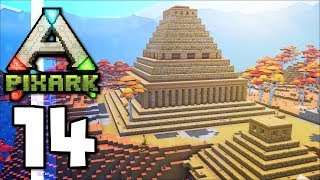 PixARK • Golden Pyramid, Castle Towers & Hippocampus Tame! (Ep.14)