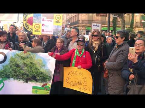 Manifestación contra la mina de uranio de Retortillo 24 de febrero en Salamanca