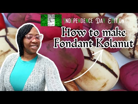 How to make Fondant Kolanut.