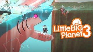 LittleBIGPlanet 3 - Deep Blue Sea SHARK ATTACK & Mega Shark Attack [PS4]