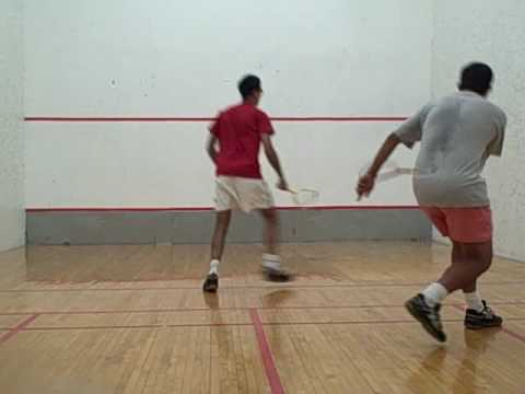 Drop shot and cross court squash drill