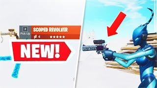 *NEW* Legendary Scoped Revolver Gameplay + 1v1 Battle! (Fortnite)