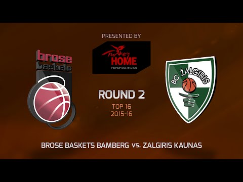 Highlights: Top 16, Round 2, Brose Baskets Bamberg 96-63 Zalgiris Kaunas