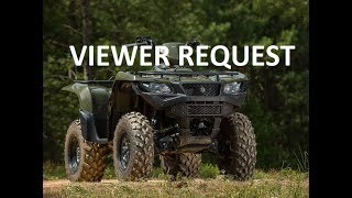 9. 2016 Suzuki Kingquad 750 Overview