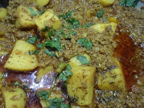 Aloo Keema Dhaba Style Recipe / How To Make Aloo Keema Ka Salan/Mince With Potato Curry