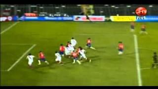 Gol de Farfan a Chile - Tv Chilena comenta el gol con un: