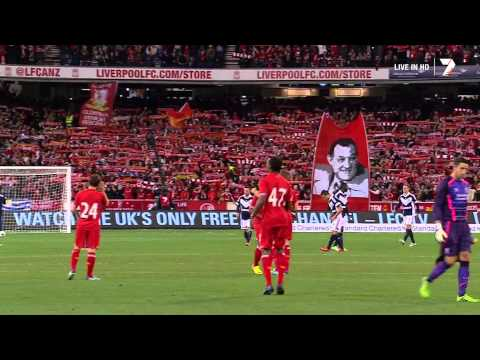 LL - Listen in FULL Dolby to the Liverpool F.C. fans and all 95000 fans in the MCG (Melbourne Cricket Ground) as Melbourne Victory Fans & Liverpool F.C. fans joi...