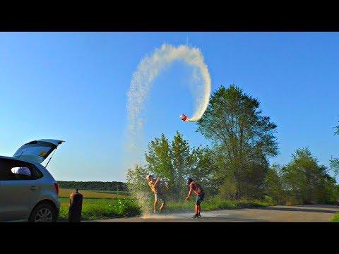 Ракета из огромной 30-ти литровой Колы с Пропаном