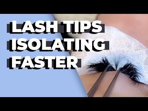 How to Properly Isolate Difficult Lashes - Lash Artist Tips