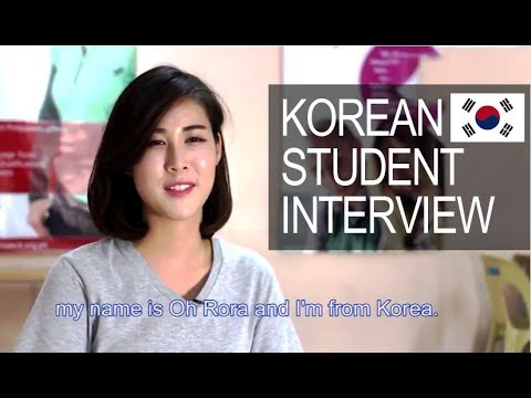 SMEAG Korean Student Interview