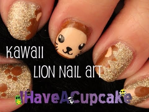 Kawaii Lion Nail Art Tutorial