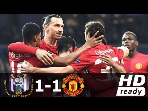 Anderlecht vs Manchester United 1-1 - All Goals & Extended Highlights - Europa League 13/04/2017 HD