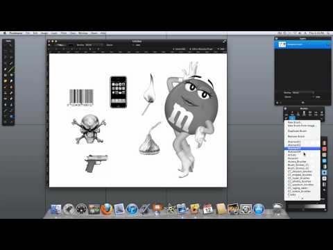 pixelmator 2 tutorial - Creating new files in your Pixelmator Brushes folder and adding brushes to a favorites pallette.