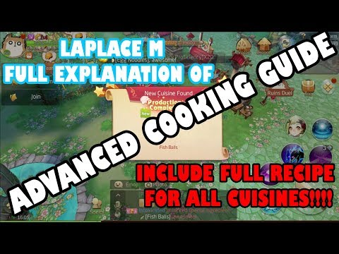 LAPLACE M(SEA) - ADVANCED COOKING GUIDE WITH FULL EXPLANATION + FULL RECIPE LIST REVEALED!!!