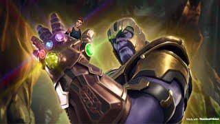 Thanos vs. Default Skin!   Fortnite : Infinity Gauntlet