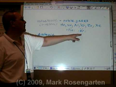 Chemistry Tutorial 7.03b:   Monatomic And Diatomic Molecules & Phases Of Elements