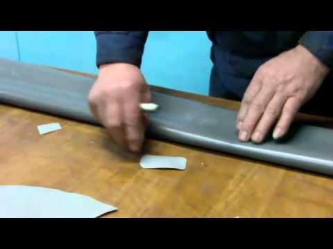ремонт надувных лодок из пвх видео
