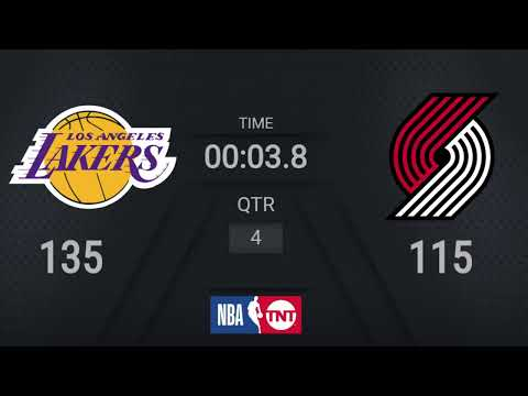 Lakers @ Trail Blazers | NBA on TNT Live Scoreboard | #WholeNewGame