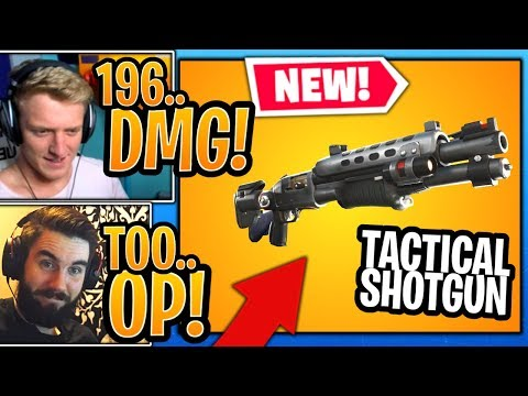 Streamers React To The *NEW* Legendary Tactical Shotgun In Fortnite! - Fortnite Moments