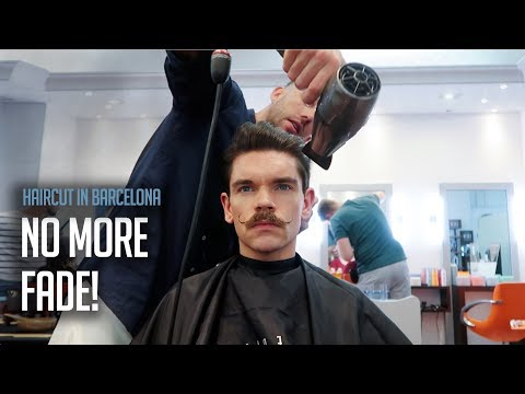 Mens hairstyles - Getting My Hair Cut and Styled In Barcelona  Barber Challenge!