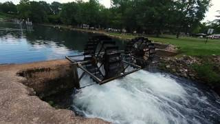 Relax and just watch the water wheel as you listen to the flowing water. This is in Spring Park in Tuscumbia, Alabama.