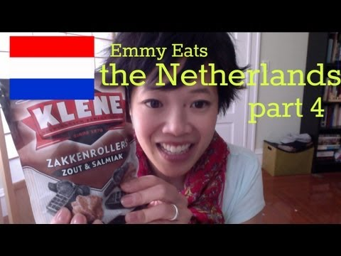 Netherlands - Tasting Dutch sweets including the most beloved 'drop' (black licorice) and salmiak on this episode of Emmy Eats the Netherlands: part 4. Big thanks to M&A f...