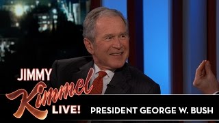 Jimmy Kimmel's FULL INTERVIEW with President George W. Bush