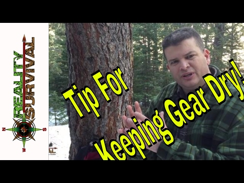 Winter Survival Quick Tip: Easy Way To Keep Gear Dry