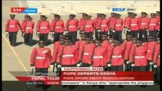 Pope Francis leaves Kenya after three days visit and heads to Uganda on his maiden trip to Africa