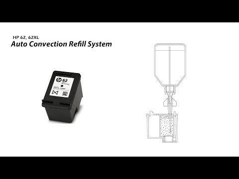 How To Refill HP 62 62XL Black Ink Cartridge - Auto Convection Refill