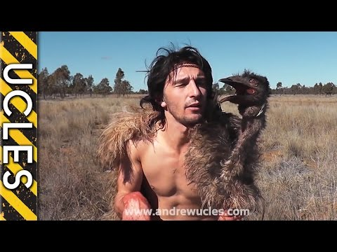 Guy wears emu carcass as disguise catches kangaroo