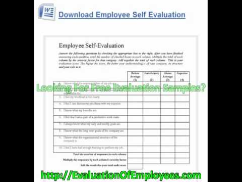 Free Employee Evaluation Forms