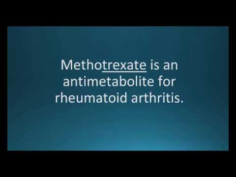 How to pronounce methotrexate (Trexall) (Memorizing Pharmacology Video Flashcard)