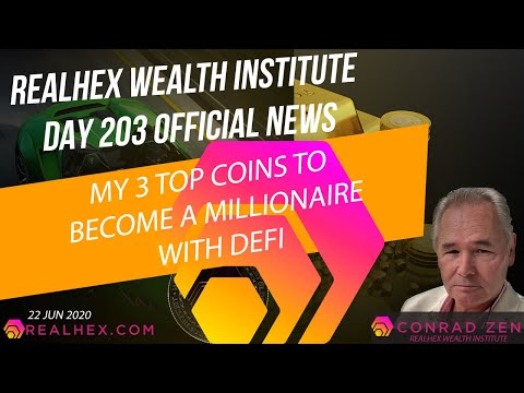 DAY 203 MY THREE TOP COINS TO MAKE YOU A MILLIONAIRE